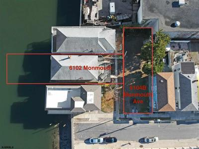 Ventnor Single Family Home For Sale: 6102 And 6104b Monmouth Ave