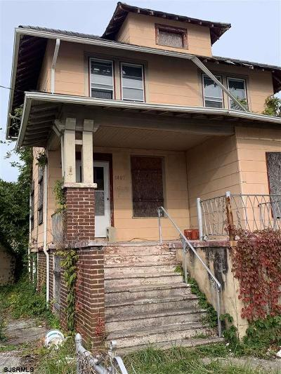 Atlantic City Single Family Home For Sale: 1407 N Ohio Ave