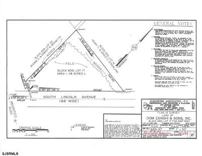 Vineland Residential Lots & Land For Sale: S Lincoln Ave Ave
