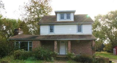 Millville Single Family Home For Sale: 809 Carmel Rd Road