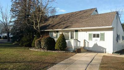 Somers Point Single Family Home For Sale: 100 Colwick