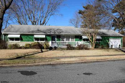 Somers Point Single Family Home For Sale: 3 Violet Lane