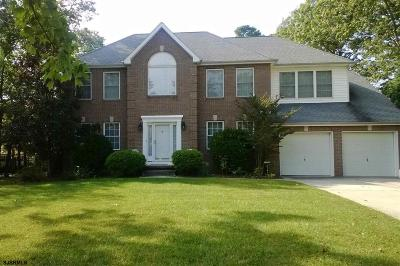 Egg Harbor Township Single Family Home For Sale: 11 Red Oak Ct