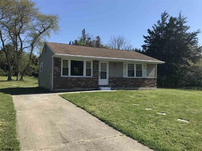 Upper Township Single Family Home For Sale: 15 Frances Drive So.