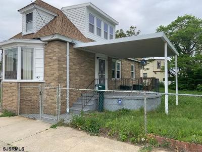 Atlantic City Single Family Home For Sale: 43 N Massachusettes Ave