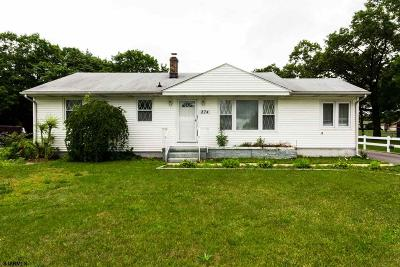 Vineland Single Family Home For Sale: 274 Wheat Road