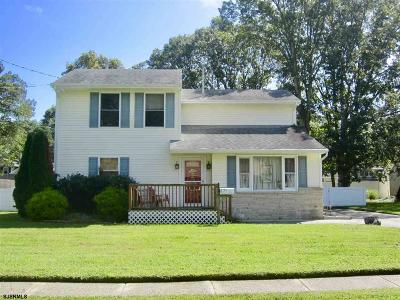 Somers Point Single Family Home For Sale: 9 Princeton Road