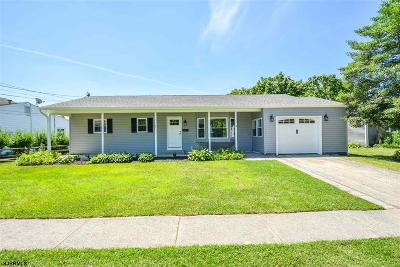 Somers Point Single Family Home For Sale: 13 Gulph Mill Rd