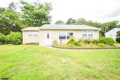 Somers Point Single Family Home For Sale: 32 Gulph Mill Road