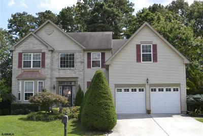 Egg Harbor Township Single Family Home For Sale: 103 Woodberry Dr Dr
