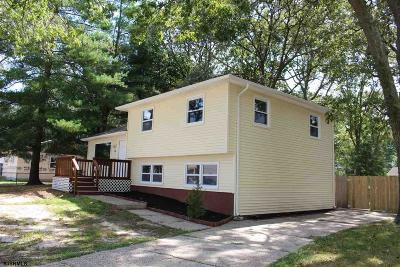 Somers Point Single Family Home For Sale: 52 W Laurel Dr
