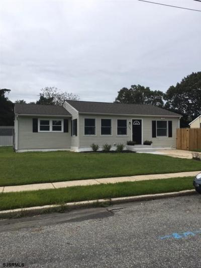 Somers Point Single Family Home For Sale: 182 Jordan