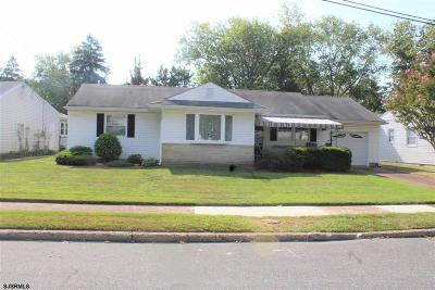 Somers Point Single Family Home For Sale: 6 Gulph Mill Road