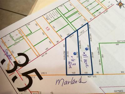Hobbs Residential Lots & Land For Sale: Marland Blvd
