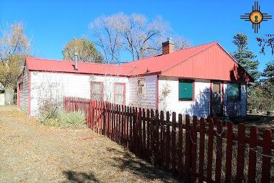 Raton NM Single Family Home For Sale: $59,000