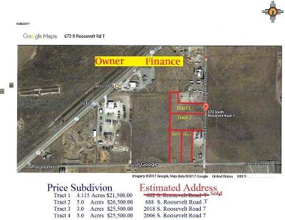 Roosevelt County Residential Lots & Land For Sale: 688 S Roosevelt Road T