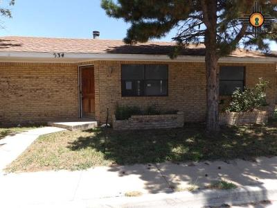Hobbs NM Single Family Home For Sale: $107,000