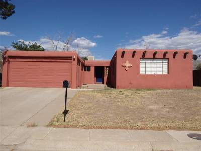 Alamogordo Single Family Home Uc W/Contingency: 1802 Miracerros Ln