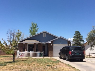 Alamogordo NM Single Family Home Uc W/Contingency: $113,900