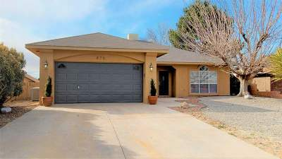 Alamogordo Single Family Home Under Contract: 875 San Juan Av