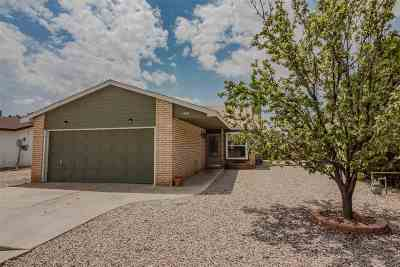 Alamogordo Single Family Home Under Contract: 1491 Lindberg Av