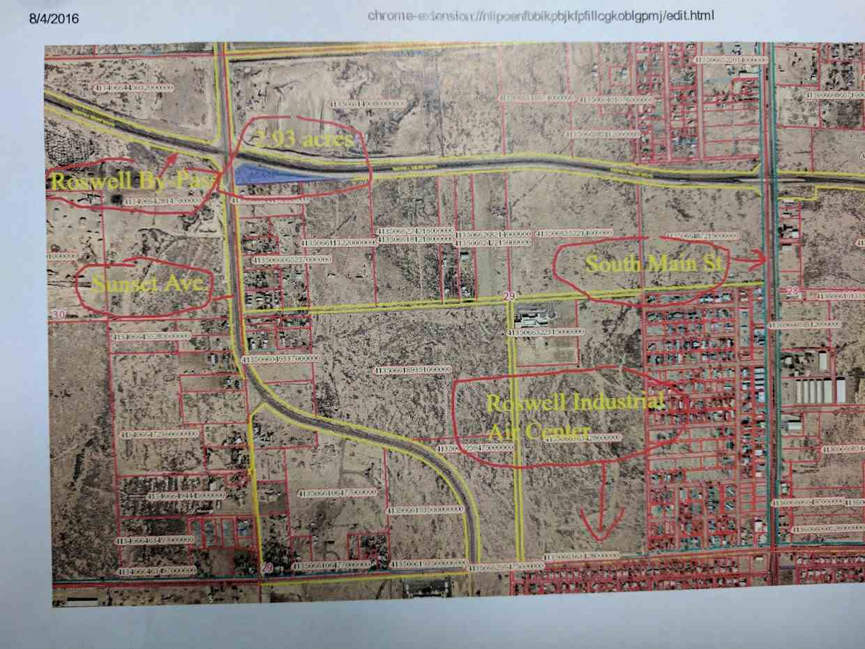 Roswell Nm Zip Code Map.Sw Corner S Sunset And By Pass Roswell Nm Mls 170347 Roswell