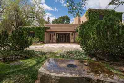 Santa Fe Single Family Home For Sale: 540 Canyon Road