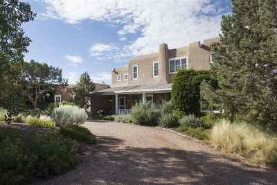 Santa Fe NM Single Family Home For Sale: $2,750,000