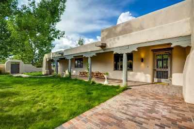 Santa Fe NM Single Family Home For Sale: $2,450,000