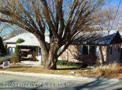 Aztec, Flora Vista Single Family Home For Sale: 1001 Lovers Lane