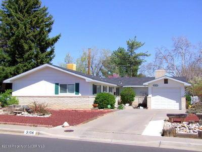 Farmington NM Single Family Home For Sale: $184,900
