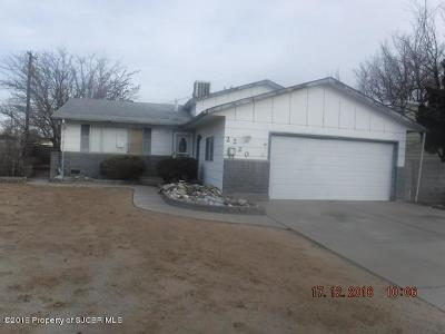 San Juan County Single Family Home For Sale: 2220 Camina Placer