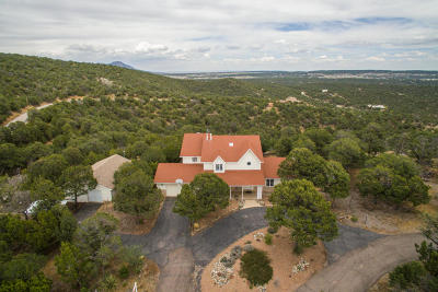 Tijeras, Cedar Crest, Sandia Park, Edgewood, Moriarty, Stanley Single Family Home For Sale: 176 Pinon Trail