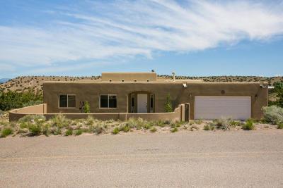 Placitas Single Family Home For Sale: 25 Cienega Canyon Road