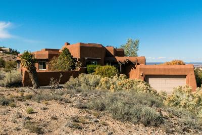 Placitas Single Family Home For Sale: 151 Camino Barranca