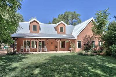 Corrales Single Family Home For Sale: 7057 Corrales Road