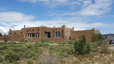 Placitas Single Family Home For Sale: 27 Camino Tres Ritos Court