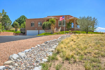 Sandia Heights Single Family Home For Sale: 1483 Morning Glory Road NE