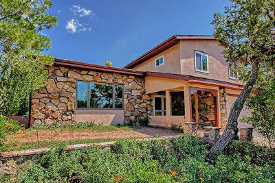 Tijeras, Cedar Crest, Sandia Park, Edgewood, Moriarty, Stanley Single Family Home For Sale: 25 Vista Grande