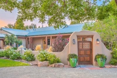 Los Ranchos Single Family Home For Sale: 6435 El Camino Guadalupe Road NW