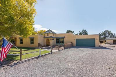 Corrales Single Family Home For Sale: 64 Olguin Road