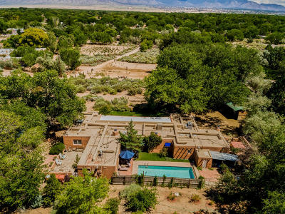 Corrales Single Family Home For Sale: 10 Coyote Trail