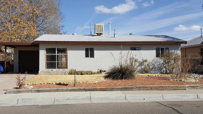 Albuquerque Single Family Home For Sale: 1708 Tomasita Street NE