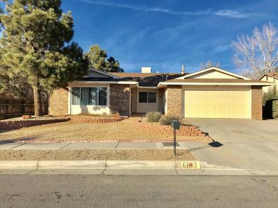 Albuquerque Single Family Home For Sale: 6613 Avenida La Costa NE