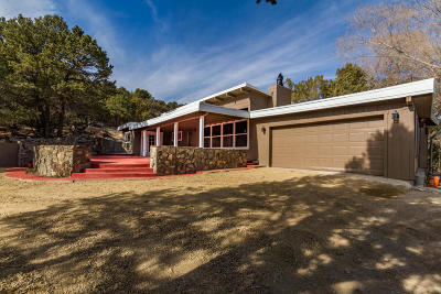 Tijeras, Cedar Crest, Sandia Park, Edgewood, Moriarty, Stanley Single Family Home For Sale: 12093 Hwy 14