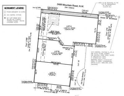 Bernalillo County Residential Lots & Land For Sale: 2406 Mountain Road NW #B