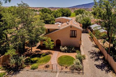 Bernalillo Single Family Home For Sale: 342 Camino Del Pueblo