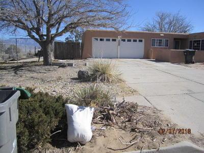 Albuquerque Single Family Home For Sale: 10312 Piedra Court NW