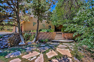 Tijeras, Cedar Crest, Sandia Park, Edgewood, Moriarty, Stanley Single Family Home For Sale: 39 Canyon Ridge