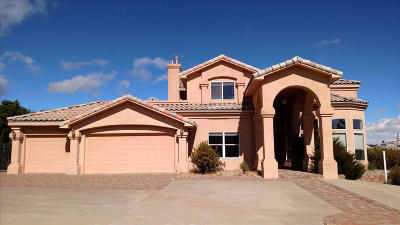 Tijeras, Cedar Crest, Sandia Park, Edgewood, Moriarty, Stanley Single Family Home For Sale: 52 Canyon Ridge Drive